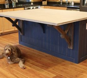 how to make a kitchen island with a concrete countertop start finish concrete masonry
