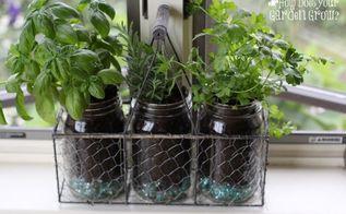mason jar herb garden, mason jars
