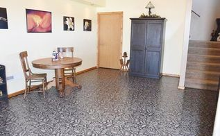 makeover a basement floor for less than 300, basement ideas, flooring