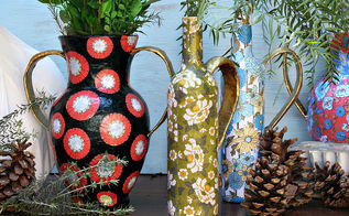 upcycle old glass flower vases part 2, gardening