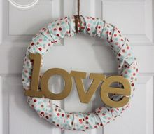 diy fabric valentine wreath, crafts, seasonal holiday decor, reupholster, valentines day ideas, wreaths