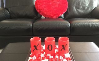 easy valentine candle display, seasonal holiday decor, valentines day ideas