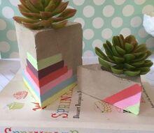 diy triangle planters, gardening