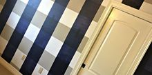 how to paint a buffalo check accent wall, home decor, how to, wall decor