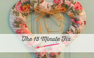 15 minute floral heart wreath, crafts, wreaths