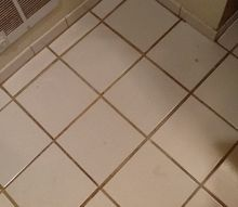 q finally my bathroom floor looks like it did 20 years ago, bathroom ideas, flooring, BEFORE