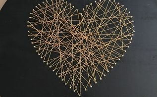 diy string art, crafts