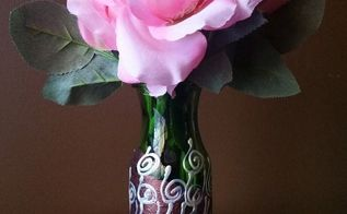 jazzing up a simple vase