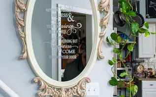 ornate mirror makeover, home decor