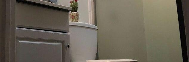 q tiny bathroom needs paint job to cozy it up, bathroom ideas