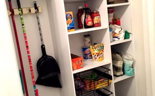 diy custom pantry, closet