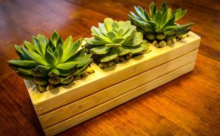 succulent planter from pallets, flowers, gardening, pallet, succulents