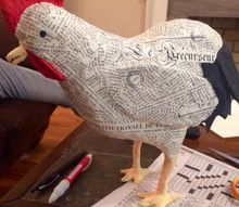 how to make an upcycled french farmhouse rooster, how to