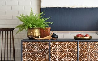 trash to treasure tribal sideboard makeover