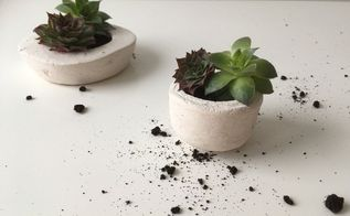 how to make concrete planters, concrete masonry, gardening, how to