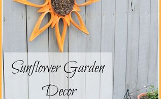 sunflower garden decor a repurposed project, flowers, gardening, home decor