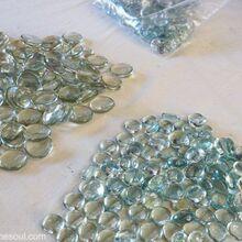 dollar store glass beads become a beautiful backsplash, kitchen backsplash, kitchen design