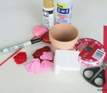valentine s day dollar store craft pot of hearts, crafts, seasonal holiday decor, valentines day ideas