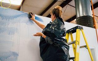 diy watercolor wall