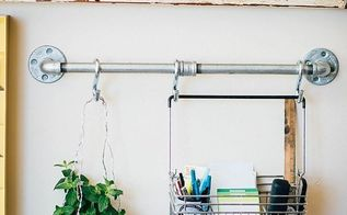 industrial pipe office wall organizer, organizing, plumbing