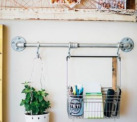 industrial pipe office wall organizer organizing