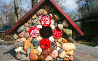 how to make a functional stone birdhouse, concrete masonry, how to