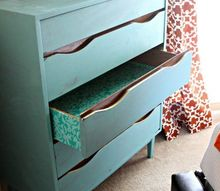 transform old dresser inside and out, painted furniture
