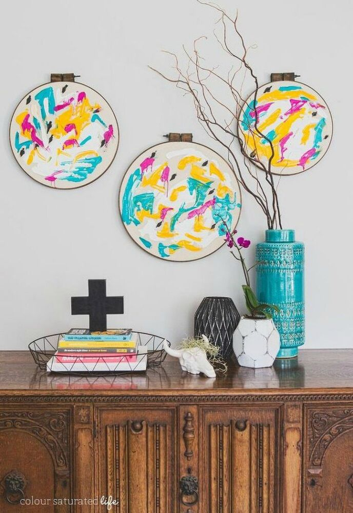 15 ultimate ways to use embroidery hoops in your home - How to decorate my home ...