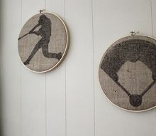 easy embroidery hoop wall art, crafts