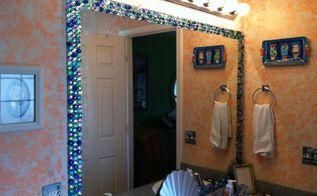 my mirror got a face lift, home decor