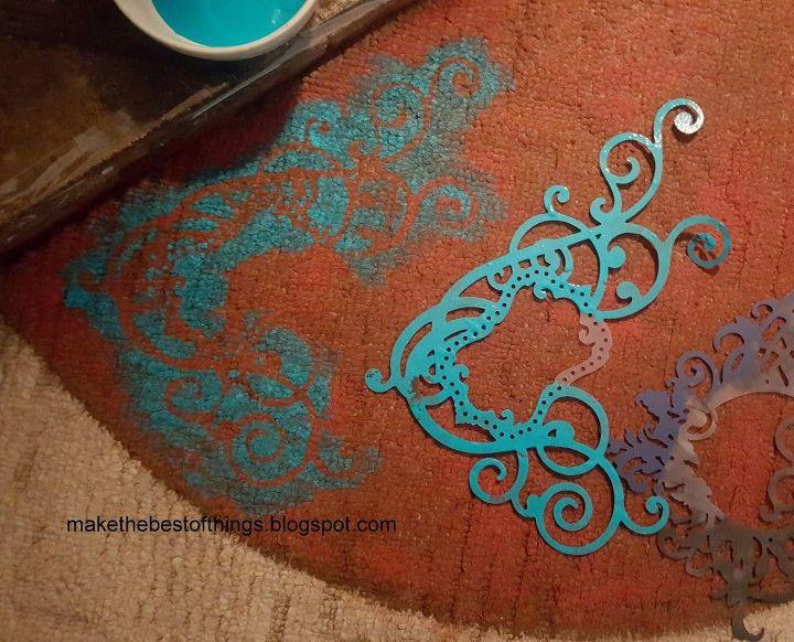 I Painted An Area Rug On My Carpet Hometalk