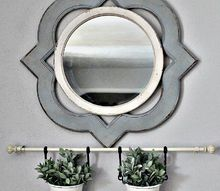 dining room wall decor with decorative curtain rods, home decor, wall decor, window treatments