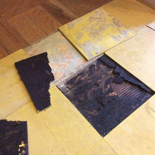 Bathroom Tiles Asbestos is this asbestos? mold? rot? anyone have an idea? | hometalk
