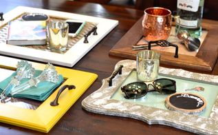 creative coffee table trays, painted furniture