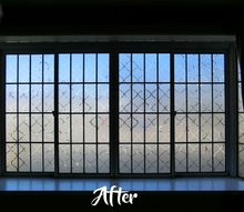 how to use contact paper to make a beautiful privacy window, how to