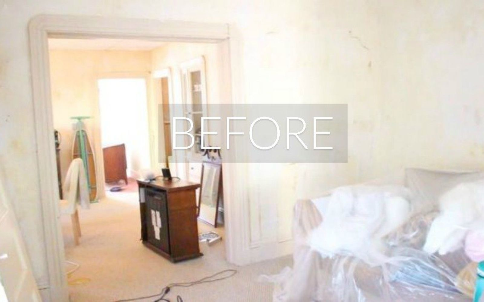 s 7 floor transformations that ll convince you to get rid of your carpet, flooring, reupholster, Before Dingy beige everywhere
