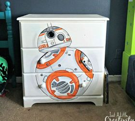Stencil A Star Wars Character On To A Dresser