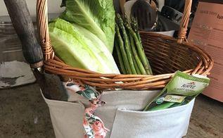 knock off william sonoma gardening basket, crafts, gardening