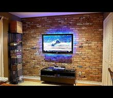 how to build an interior reclaimed brick veneer wall, concrete masonry, how to, woodworking projects
