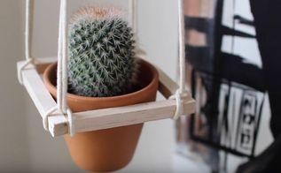diy plant hanger minimalistic, gardening