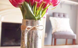diy mercury glass dollar store vase