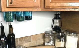 mounted mason jar spice storage, mason jars, organizing, storage ideas