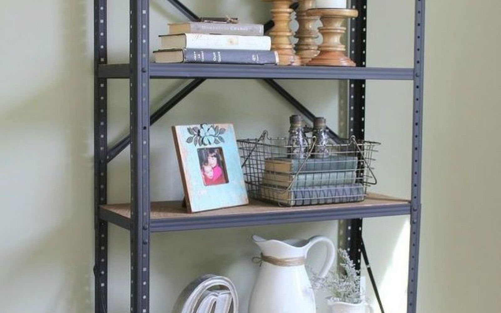 s stop everything these bookshelf redos are ah mazing, shelving ideas, storage ideas, Turn a rusted garage sale find into a gem