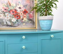 updating an old piece of furniture with bold colour, painted furniture