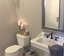 a little make over in the powder room