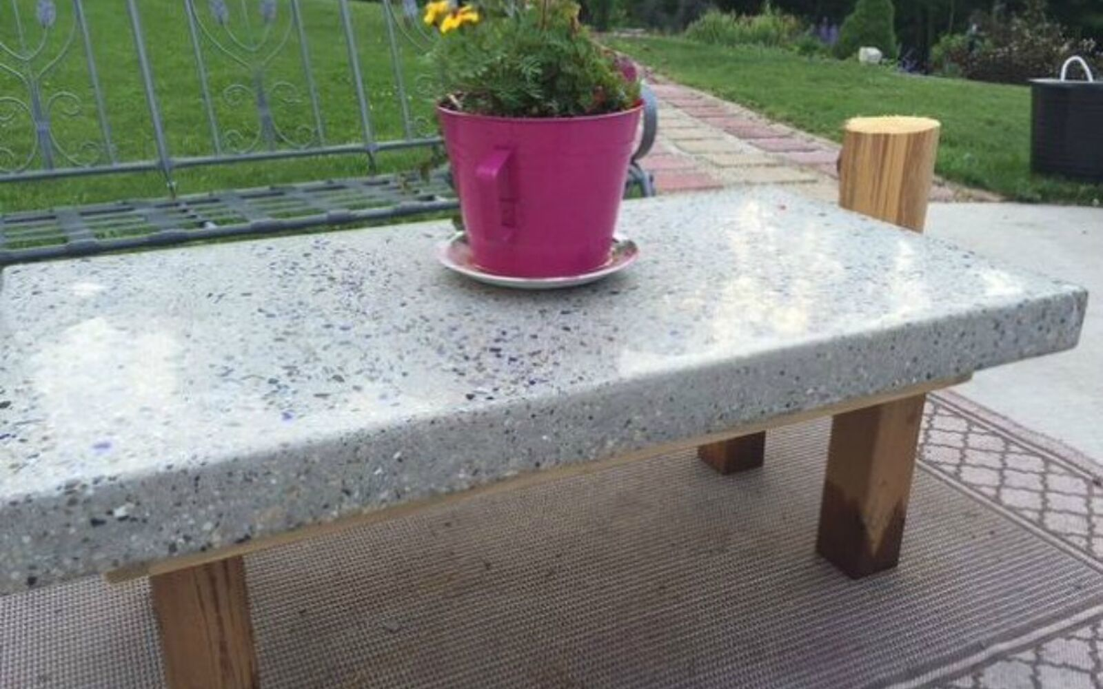 s 14 stunning ways to add cement to your home decor, concrete masonry, home decor, Sculpt it into a backyard coffee table