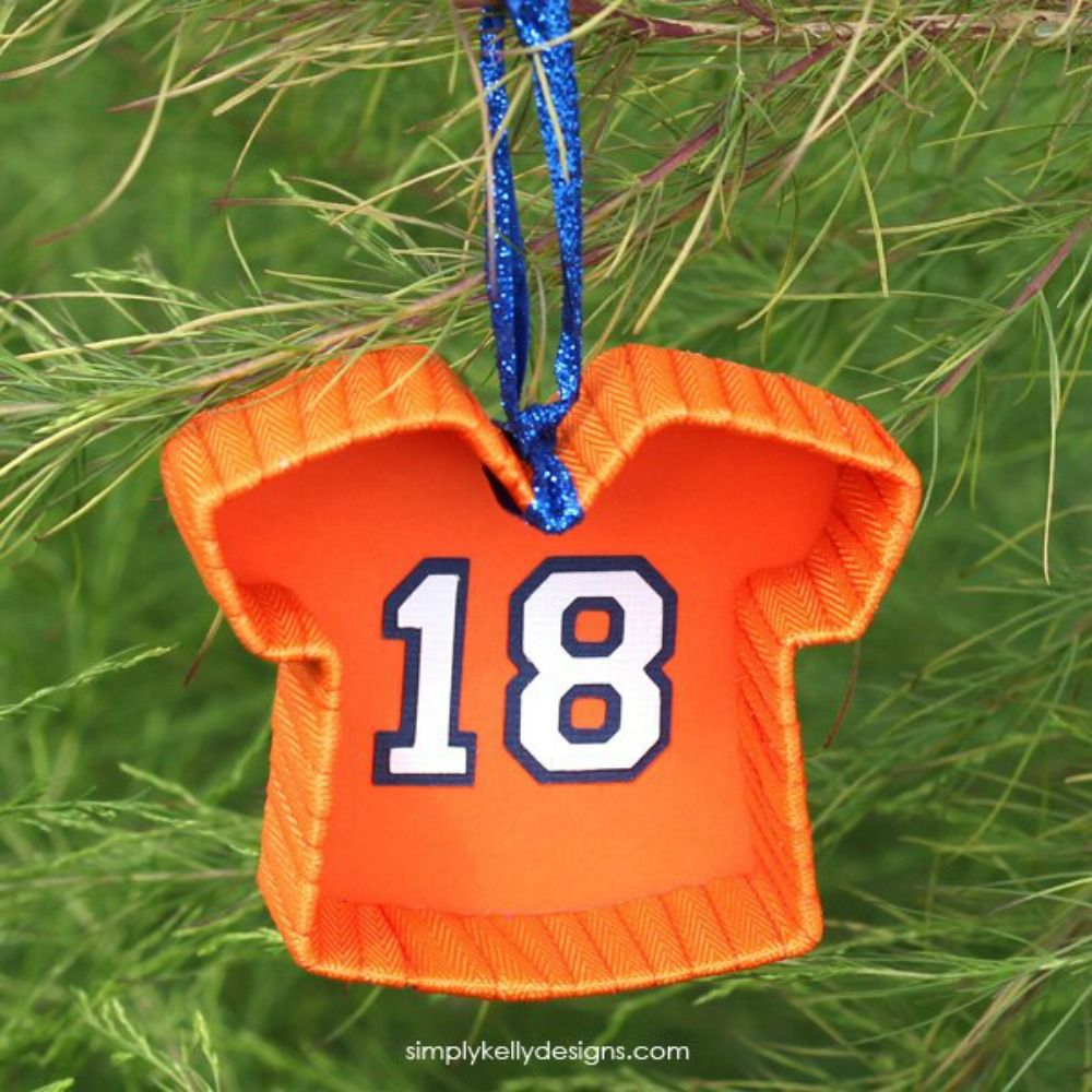 Outside ornaments - To Craft Football Jersey Christmas Ornaments