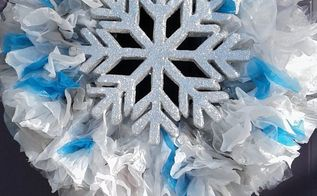 frugal diy winter wreath, crafts, wreaths