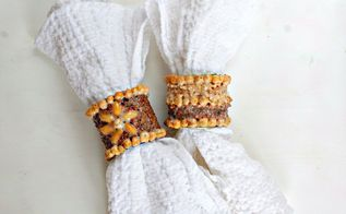 diy napkin ring with paper tube