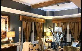 amazing faux wood beams, Wood beams installed